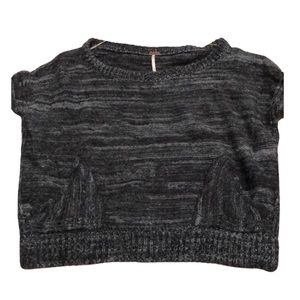 Free People navy & blue sweater